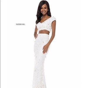 Two Piece Ivory Wedding Dress